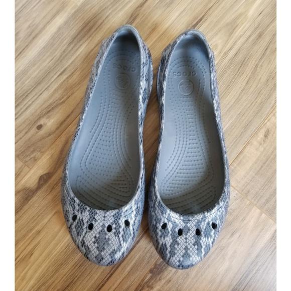 9036eaeddaf03b CROCS Shoes - Crocs Kadee Snakeskin Flat Slip-Ons